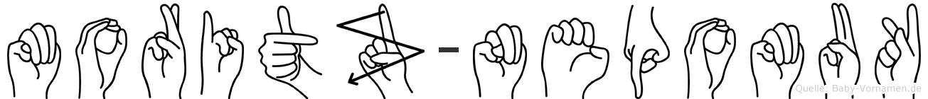 Moritz-Nepomuk im Fingeralphabet der Deutschen Gebärdensprache