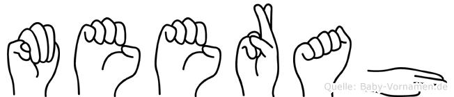 Meerah in Fingersprache für Gehörlose
