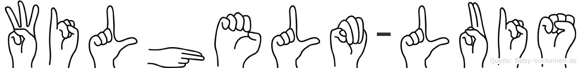 Wilhelm-Luis im Fingeralphabet der Deutschen Gebärdensprache