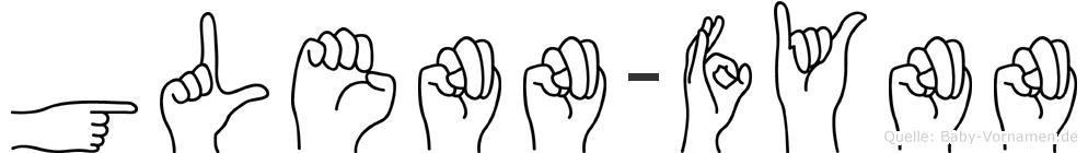 Glenn-Fynn im Fingeralphabet der Deutschen Gebärdensprache