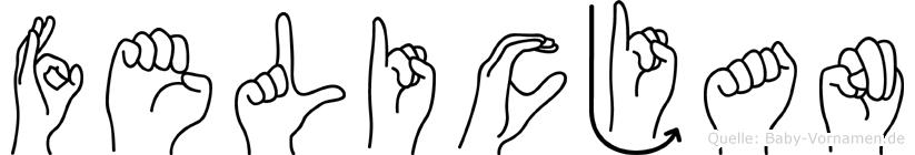 Felicjan in Fingersprache für Gehörlose