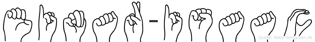 Einar-Isaac im Fingeralphabet der Deutschen Gebärdensprache