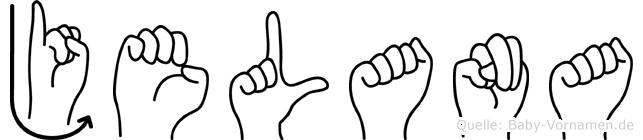 Jelana im Fingeralphabet der Deutschen Gebärdensprache