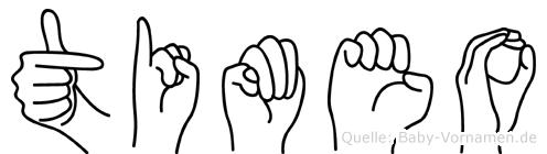 Timeo in Fingersprache für Gehörlose