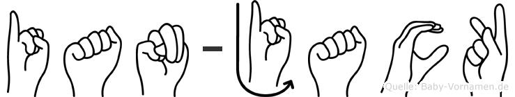 Ian-Jack im Fingeralphabet der Deutschen Gebärdensprache