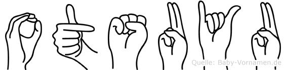 Otsuyu im Fingeralphabet der Deutschen Gebärdensprache