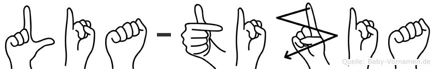 Lia-Tizia im Fingeralphabet der Deutschen Gebärdensprache