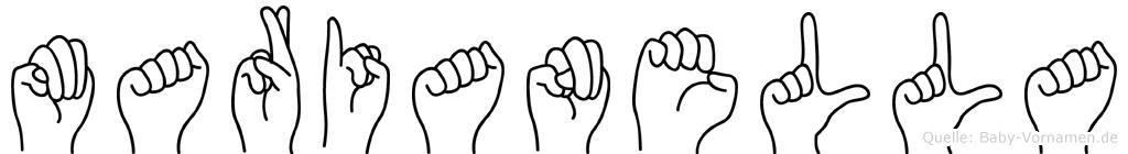 Marianella in Fingersprache für Gehörlose