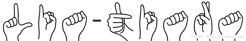 Lia-Tiara im Fingeralphabet der Deutschen Gebärdensprache