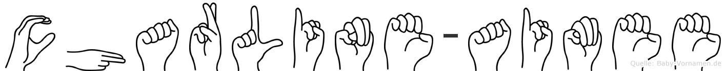 Charline-Aimee im Fingeralphabet der Deutschen Gebärdensprache