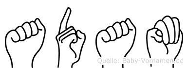 Adam in Fingersprache für Gehörlose