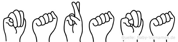 Marana in Fingersprache für Gehörlose