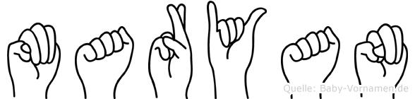 Maryan in Fingersprache für Gehörlose