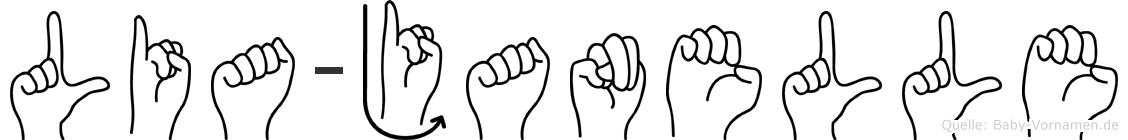 Lia-Janelle im Fingeralphabet der Deutschen Gebärdensprache