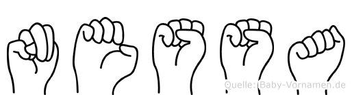 Nessa in Fingersprache für Gehörlose