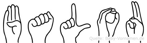 Balou in Fingersprache für Gehörlose