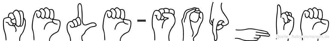 Nele-Sophie im Fingeralphabet der Deutschen Gebärdensprache