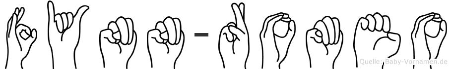 Fynn-Romeo im Fingeralphabet der Deutschen Gebärdensprache