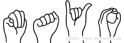 Mayo in Fingersprache für Gehörlose