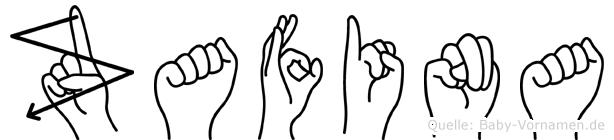 Zafina im Fingeralphabet der Deutschen Gebärdensprache