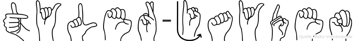 Tyler-Jayden im Fingeralphabet der Deutschen Gebärdensprache
