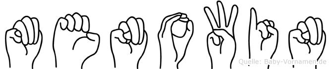 Menowin im Fingeralphabet der Deutschen Gebärdensprache