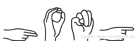 Hong in Fingersprache für Gehörlose