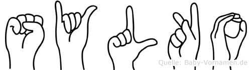 Sylko in Fingersprache für Gehörlose