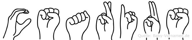 Cäsarius in Fingersprache für Gehörlose