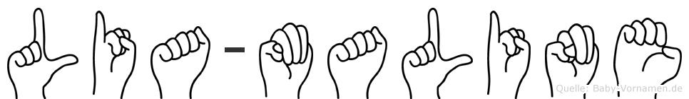 Lia-Maline im Fingeralphabet der Deutschen Gebärdensprache