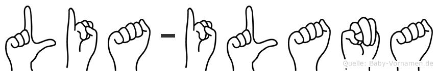 Lia-Ilana im Fingeralphabet der Deutschen Gebärdensprache