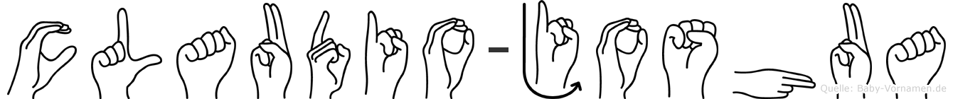 Claudio-Joshua im Fingeralphabet der Deutschen Gebärdensprache