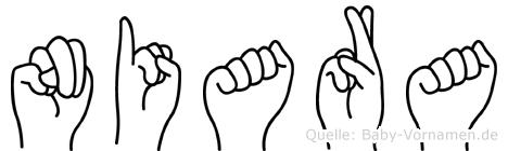 Niara in Fingersprache für Gehörlose