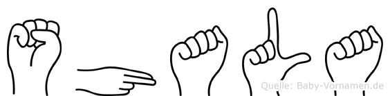 Shala in Fingersprache für Gehörlose