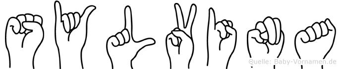Sylvina in Fingersprache für Gehörlose