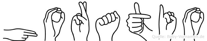 Horatio im Fingeralphabet der Deutschen Gebärdensprache