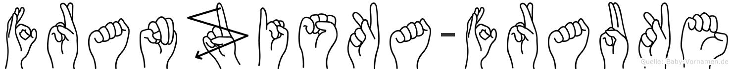 Franziska-Frauke im Fingeralphabet der Deutschen Gebärdensprache