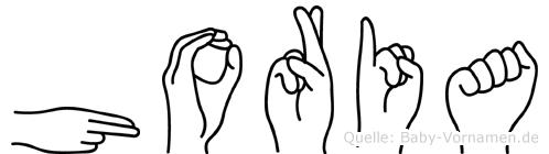 Horia im Fingeralphabet der Deutschen Gebärdensprache