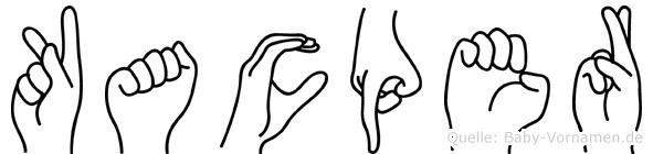 Kacper im Fingeralphabet der Deutschen Gebärdensprache