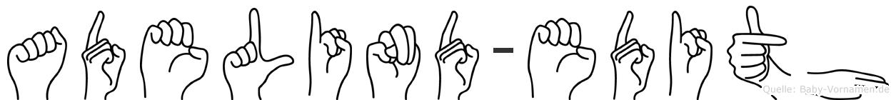 Adelind-Edith im Fingeralphabet der Deutschen Gebärdensprache
