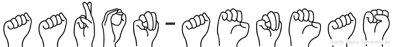 Aaron-Aeneas im Fingeralphabet der Deutschen Gebärdensprache