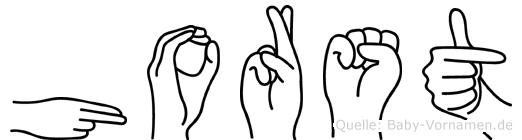 Horst in Fingersprache für Gehörlose