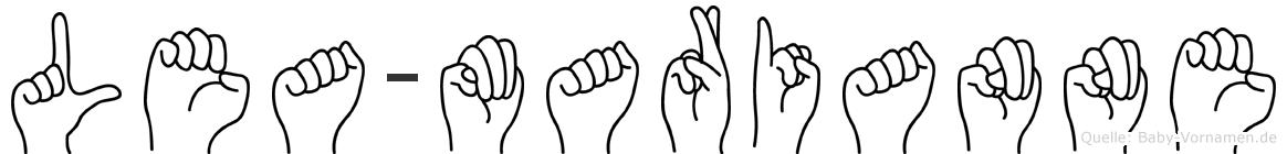 Lea-Marianne im Fingeralphabet der Deutschen Gebärdensprache