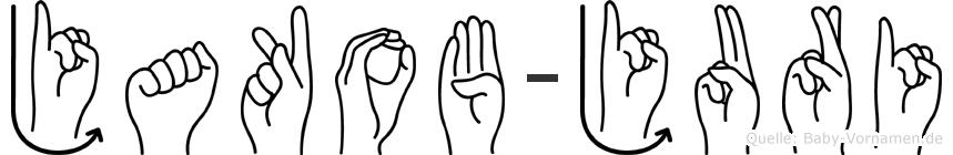 Jakob-Juri im Fingeralphabet der Deutschen Gebärdensprache