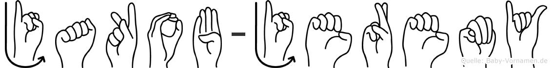 Jakob-Jeremy im Fingeralphabet der Deutschen Gebärdensprache