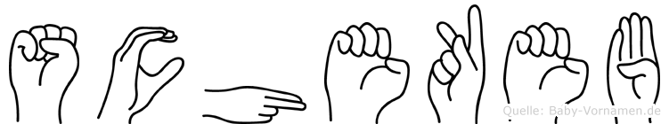 Schekeb in Fingersprache für Gehörlose