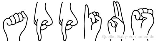 Appius in Fingersprache für Gehörlose