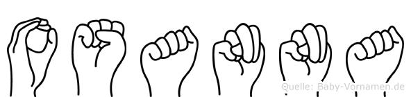 Osanna im Fingeralphabet der Deutschen Gebärdensprache