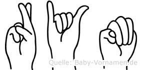 Rym im Fingeralphabet der Deutschen Gebärdensprache