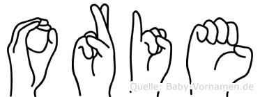 Orie im Fingeralphabet der Deutschen Gebärdensprache